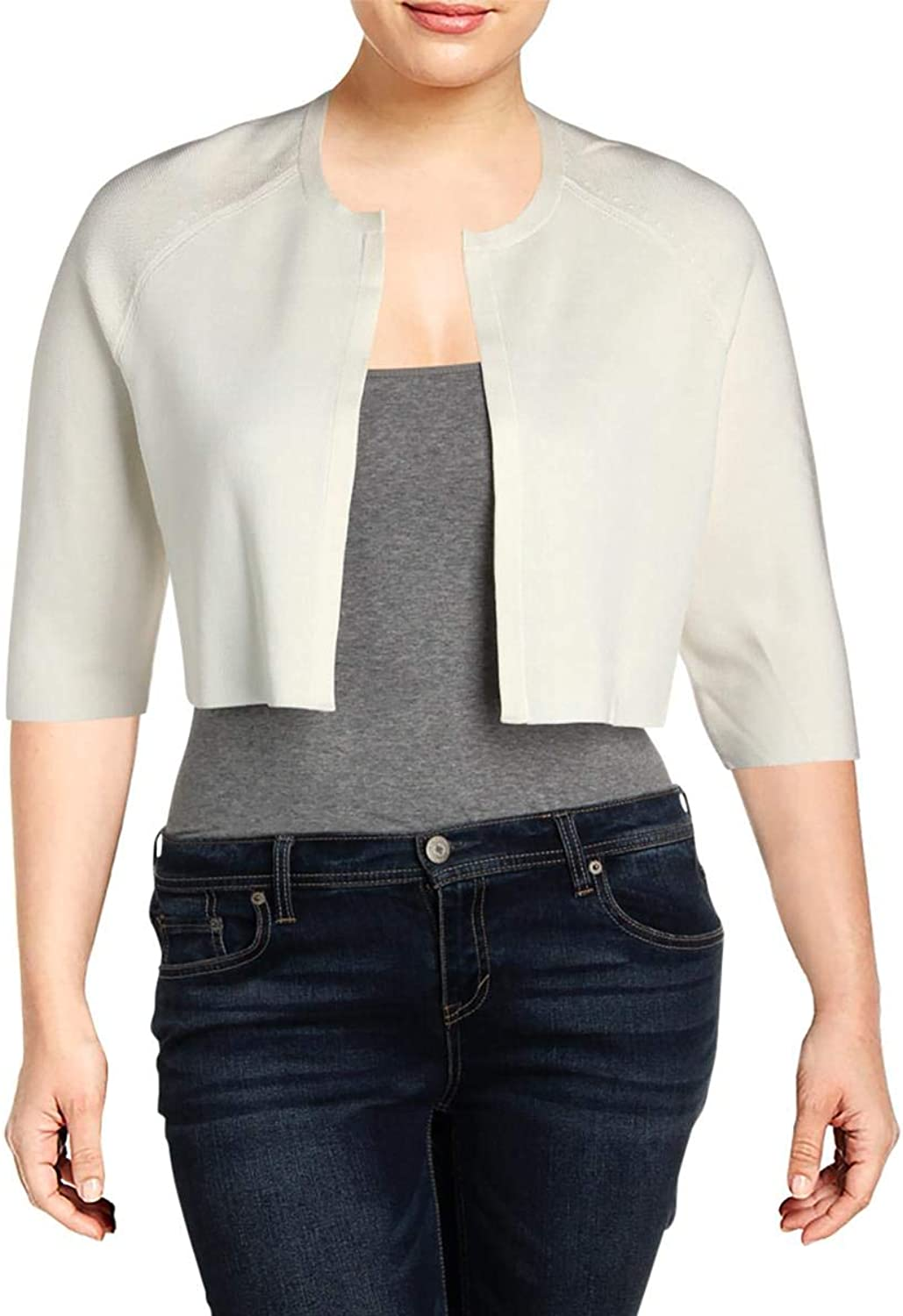 Hugo Boss Womens Crop Open Front Cardigan Sweater