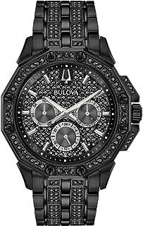 Men's Bulova Crystal Octava Black Ion-Plated Stainless Steel Watch 98C134