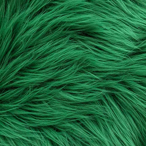 Barcelonetta | Faux Fur Squares | Shaggy Fur Fabric Cuts, Patches | Craft, Costume, Camera Floor & Decoration (Kelly Green, 20' X 20')