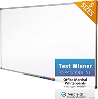 Office Marshal Professional Magnetic Dry Erase Board | White Board | Test Score: Excellent (A/1.3) - 36