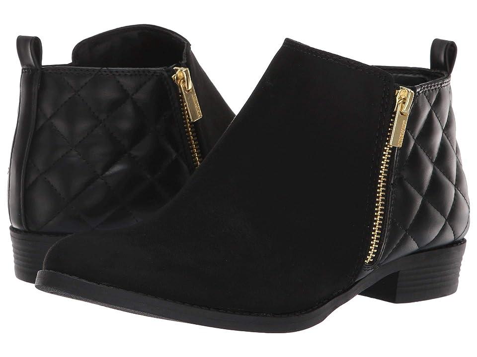 Nine West Kids Cahra Zip (Little Kid/Big Kid) (Black Microfiber/Smooth) Girls Shoes