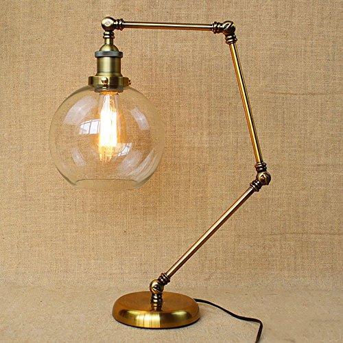 TOYM UK Américain haut et bas angle d'ajustement bar de style industriel salon de restaurant lampe de chevet