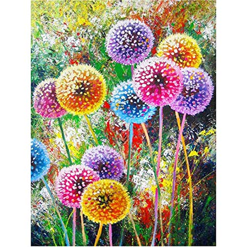 Qingxin Colorful Dandelions Cross Stitch Dot Drill DIY Embroidered Decorative Painting Bedroom Ornaments