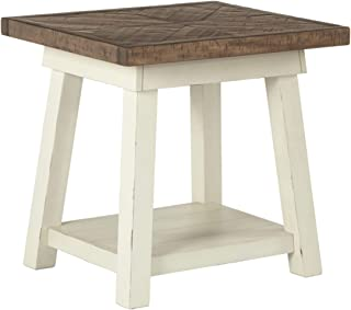Ashley Furniture Signature Design - Stowbranner Casual Rectangular End Table - Two-tone White and Brown