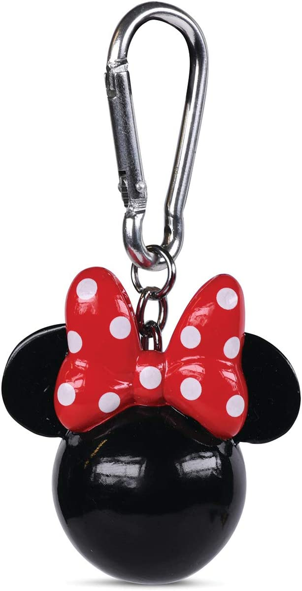 Disney Classic Minnie Mouse Head 3D Polyresin Keyring Keychain Fob