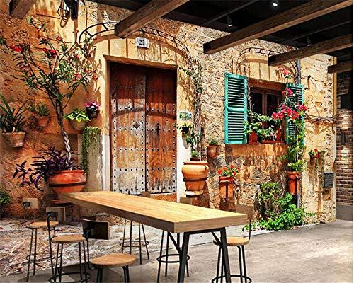 Fototapete 3D Effekt Tapete Mediterrane Street View Mode Home Dekorative Tapete Tv Wandmode AbstrakteTapete Für Wände 3 D Tapete