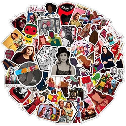 Wanda Maximoff TV-Show-Aufkleber, Partyzubehör, Vinyl, wasserdicht, ästhetische Aufkleber, Handy-Aufkleber für Handyhülle, Laptop, Wasserflasche