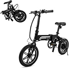 SwagCycle EB-5 Pro Lightweight and Aluminum Folding EBike with Pedals, Power Assist, and 36V Lithium Ion Battery; Electric Bike with 14 inch Wheels and 250W Hub Motor