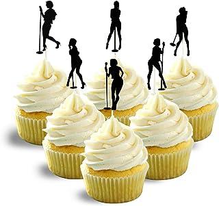 Singer Silhouette musical group Cupcake Topper Cardstock 12 per Pack Cupcake color black