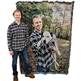 Personalized Photo - Customizable Picture - Blanket Throw Woven from Cotton Not Printed - Made in The USA (60x80)