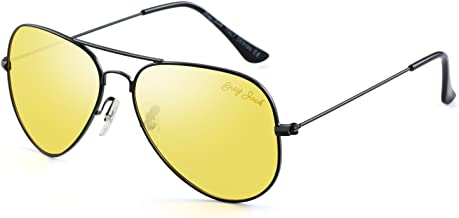 GREY JACK Anti-glare HD Night Driving Glasses Polarized Unisex Aviator Sunglasses