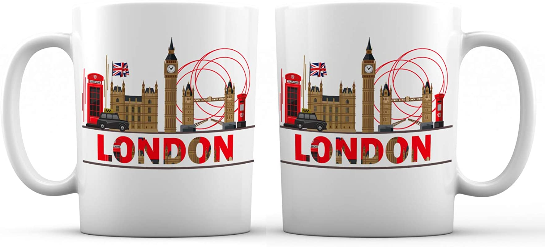 London City View Ceramic Coffee Mug 11 Oz Awesome New Design Decorative Souvenir Gift Cup For Visiting Friends Tourists Men And Women England