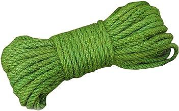 Green Jute Twine - 65 ft - 6mm Diameter - Eco-Friendly Natural Jute String Rope