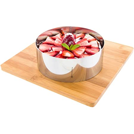 6 Inch Baking Ring, 1 Round Cake Ring - Oven-Safe and Freezer-Safe, Bake Pastries, Mousse, and Other Desserts, Stainless Steel Ring Mold, Dishwasher-Safe, For Cooking or Baking - Restaurantware