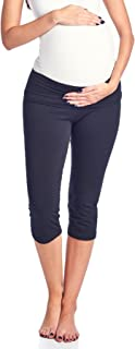 Women's Maternity Fold Over Comfortable Lounge Pants Made in USA