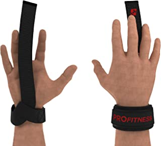 ProFitness Weight Lifting Straps: Heavy Duty Strap Improves Grip for Weightlifting, Powerlifting, Bodybuilding & Deadlift...