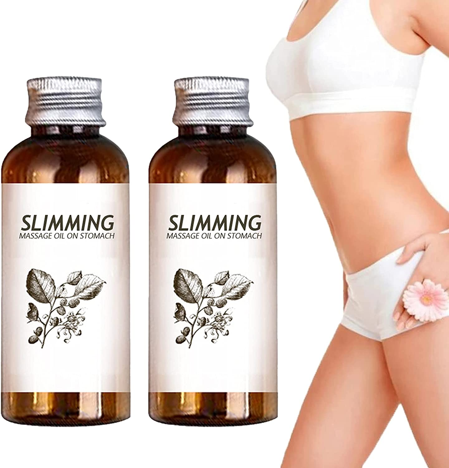 Bargain Today's only Belly Off Herbal Slimming Massage Lymphatic Natural Drainag Oil