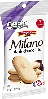 Pepperidge Farm Milano Dark Chocolate Cookies, 1.2 Ounce, 36 Count