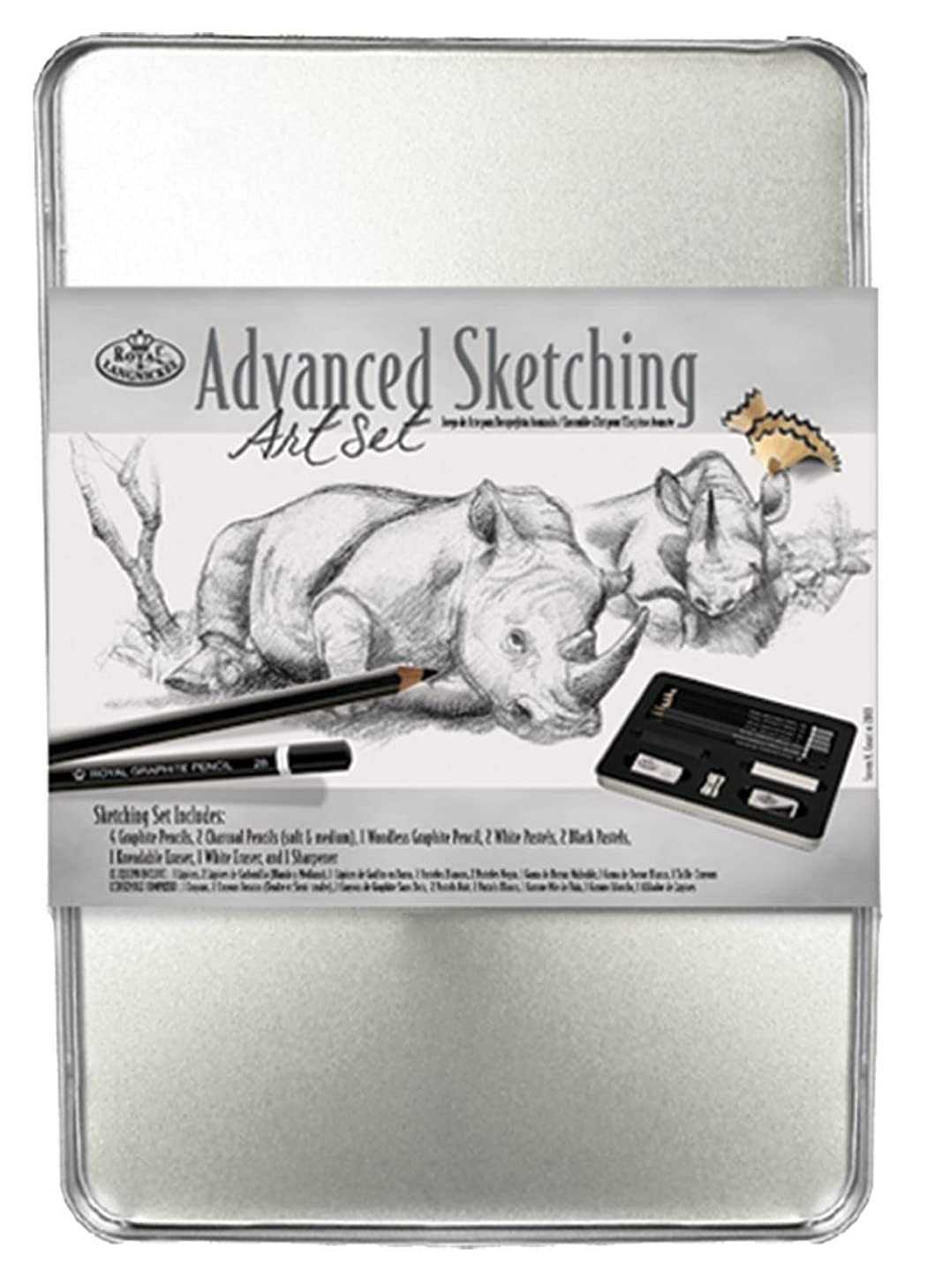 Royal & Langnickel Medium Tin Advance Sketching Art Set