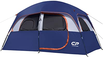 CAMPROS Tent-6-Person-Camping-Tents, Waterproof Windproof Family Tent with Top Rainfly, 4 Large Mesh Windows, Double Layer...