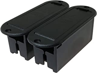 E-outstanding 9V Battery Box 2PCS Black Musical Accessories 9V Battery Case Holder for Active Guitar Bass Pickup