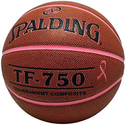 Amazing Deal Spalding TF-750 Tournament Composite Leather Breast Cancer Awareness Basketball