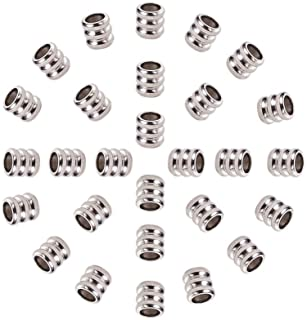 4mm Antique sliver tone spacer beads,tibetan bead Large Hole Metal Beads,304 Stainless steel Beads,jewelry making,beads for leather bracelet