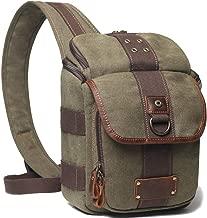 Camera Bag Sling DSLR/SLR/Mirrorless Case Crossbody Waterproof with Canon, Nikon, Sony … (Army Green)