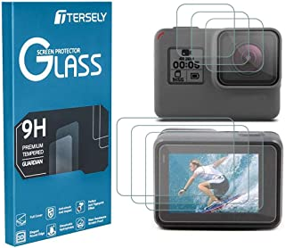 TERSELY Screen Protector for GoPro Hero 7 (2018) Black /6/5, (3 Pack) 9H Hardness Tempered Glass Screen Protector Front Ca...