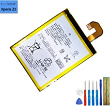 New Replacement Battery LIS1558ERPC Compatible with Sony Xperia Z3 D6616 D6633 D6653 L55T L55u Xperia Z3 WiMAX 2+ with Tools