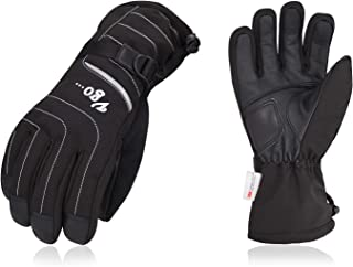 Vgo... -4℉or Above 3M Thinsulate G80 Lined Mens' Leather Ski Gloves(1Pair,Black,SF-GA2444FW)