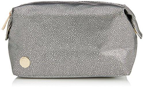 Mi-Pac Gold Wash Trousse à Maquillage Pebbled Silver/Black