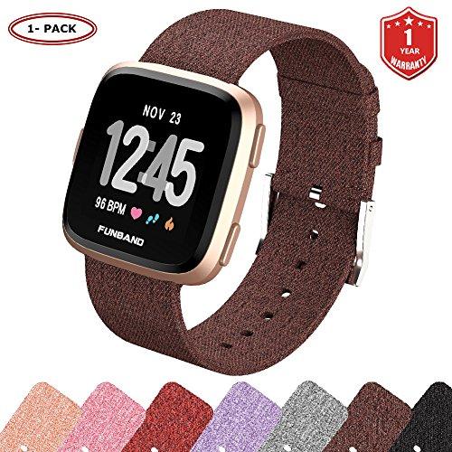 FunBand Kompatibel mit Armband Fitbit Versa 2, Verstellbares Ersatz Woven Nylon Sporty Wrist Strap Band Armbanduhr Uhrenarmband Schlaufe Armbänder für Fitbit Versa/Versa 2/Versa Lite Smartwatch
