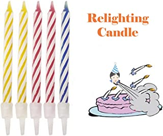 Ackful🍁Magic Trick Relighting Birthday Candles 10 Piece Naughty Party Joke Gift Kids Toy