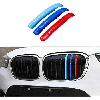 3/Colors/Kidney/Grilles/Insert/Trim/Cover/for BMW X1 F48 2016-2018 Motorsport/Strips/Grill/1/Set 7 Grille