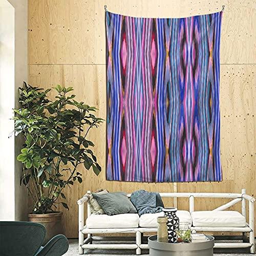 Tapiz para colgar en la pared, diseño de rayas azules y moradas, para dormitorio, decoración de habitación, 200 x 60 pulgadas