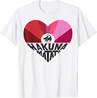 Lion King Simba Hakuna Matata Heart Graphic T-Shirt