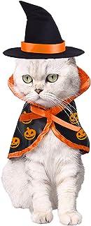 هالووین گربه حیوان خانگی جادوگر لباس گربه سگ های کوچک لباس جادوگر کیپ با کلاه حیوانات خانگی لباس لباس برای بچه گربه توله سگ برای تولد Cosplay جشن شب هالووین