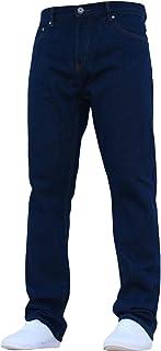 Denim & Dye New Mens Straight Fit Hardwearing Basic Jeans All Waist Sizes