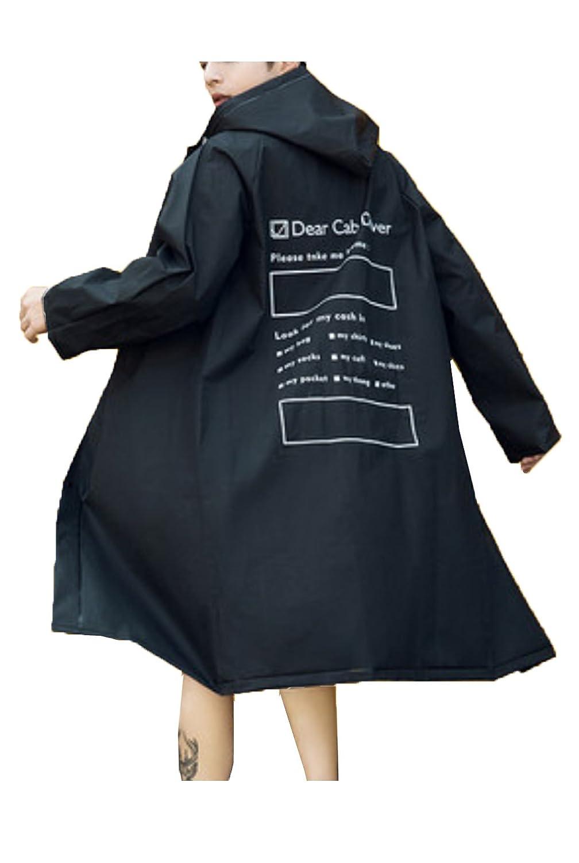Heaven Days(ヘブンデイズ) レインコート ポンチョ レインウェア 雨具 ボタン 透明 フード プリント 防雨袖口 メンズ レディース 1806K0564