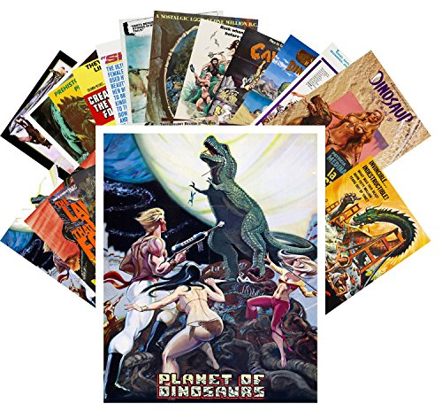 24 Postkarten Dinosaur Monster Prehistoric Vintage Trash Movie Posters Ads
