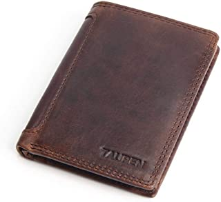 Mens Leather Bag Men's Vintage Casual Leather Short Wallet Wallet Multi-Card Position Bag (Color : Chocolate, Size : S)