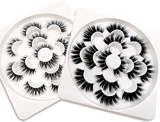 KellyRoom 20mm Lashes 3D Faux Mink 14 Pairs Long Natural Dramatic Fake Eyelashes with Lash Applicator (2 Styles)