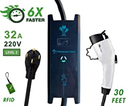 PRIMECOM 30 Feet Level 2 Electric Vehicle (EV) Charger (220/240V, 32Amp/40Amp) 32 and 40 Amp 6-50P. 10-50P & 14-50P (14-50P, 32 Amp)