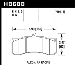 Hawk Dtc-70 Universal Performance Compound Racing Brake Pads By Jm Auto Racing (Hb688u.710)