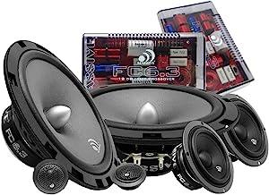 $135 » Massive Audio FC6.3 – 6 Inch / 6.5 Inch 3-Way, 150w/300 Watts Max, 6.5 Inch Mid-Bass, 3 Inch Mid-Range, 25mm Tweeter, 4 Oh...
