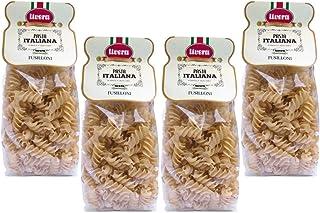 Livera Fusilloni 4 X 500Gr, Pasta Cortas Gigante de Sémola de Trigo Duro 100% Made in Italy, Fusilli Giganti, Excelencia Italiana, Pasta Artesanal italiana Seca de Alta Calidad, Cocina 10'