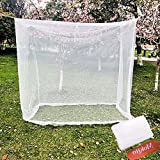 Camp Mosquito Net, Ultra Large Mosquito Net Camping Tent for Camping, Finest Holes Mesh 20, Square Netting Curtain for Bunk Bed, Camping, Bedding, Patio, Easy Installation, Storage Bag 200200180cm
