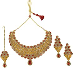 MUCH-MORE Indian Gorgeous Traditional Necklaces Earrings Jewelry for Women