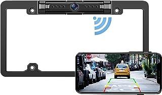 $92 » License Plate WiFi Backup Camera - IP69 Waterproof Night Vision License Plate Frame Camera for Cars, Trucks, Vans, Pickup...